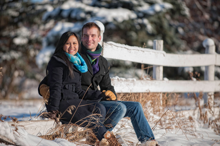Image 1 of Kyle and Mary's Snowy Photoshoot Proposal