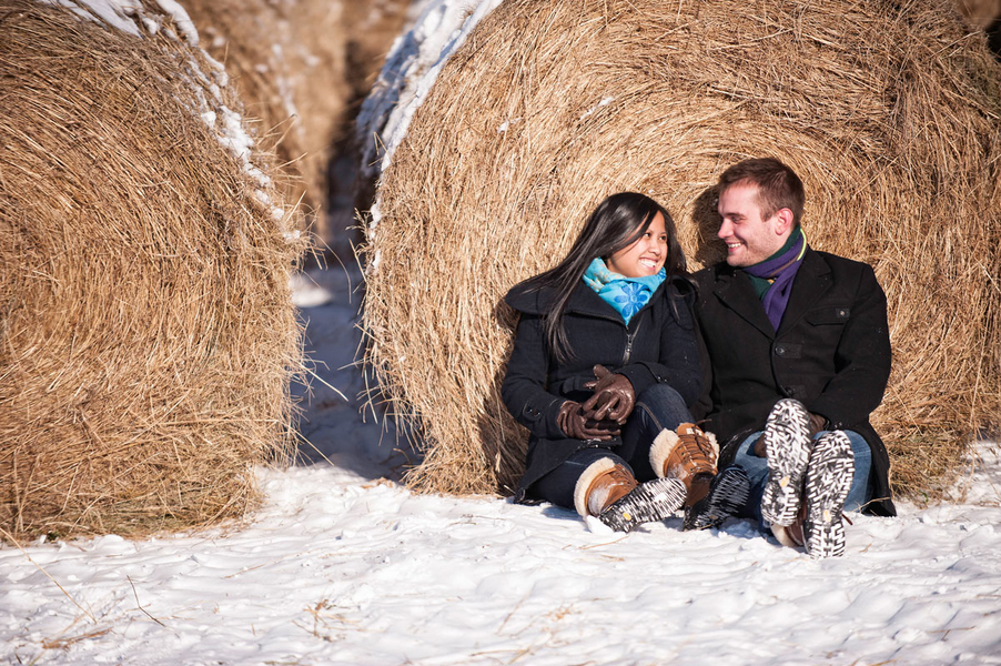 Image 3 of Kyle and Mary's Snowy Photoshoot Proposal