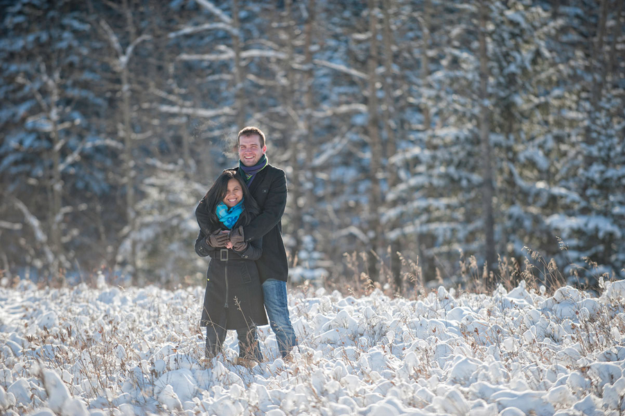 Photo Shoot Proposal in the Snowy Woods (4)