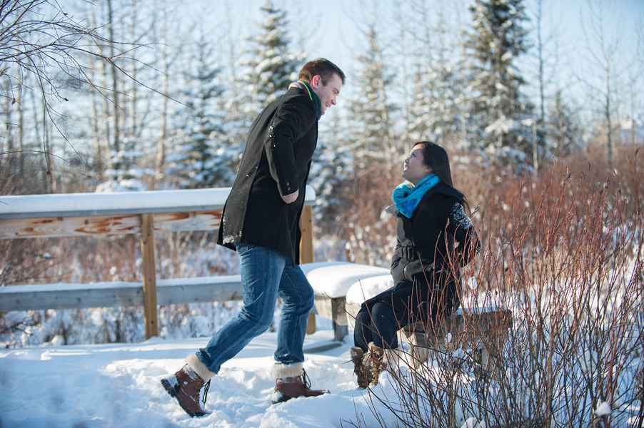 Photo Shoot Proposal in the Snowy Woods (5)