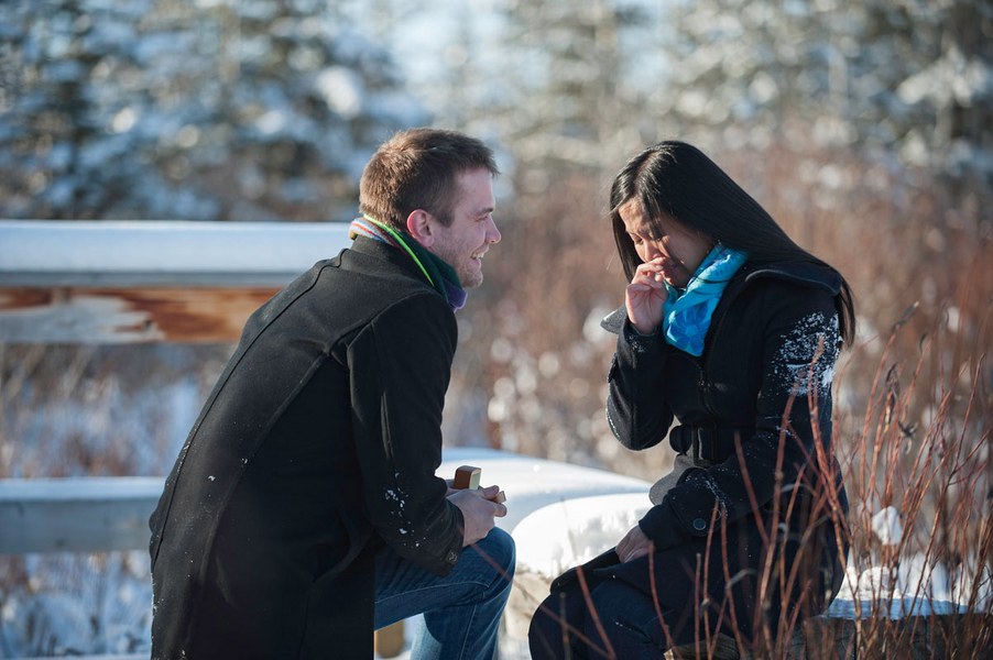 Photo Shoot Proposal in the Snowy Woods (7)