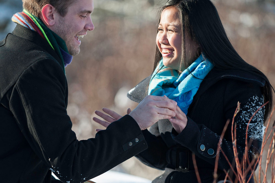 Photo Shoot Proposal in the Snowy Woods (8)