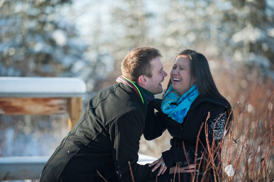 Photo Shoot Proposal in the Snowy Woods (9)