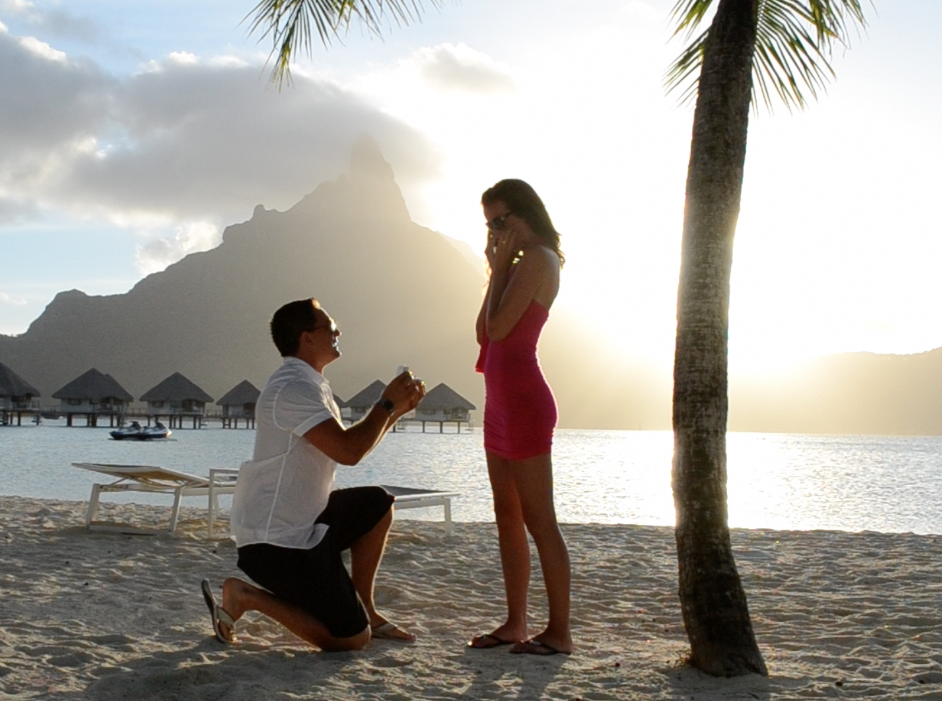 Proposal in Beautiful Bora Bora