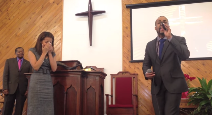 Image 2 of Yohanna and Dominick's Marriage Proposal at Church