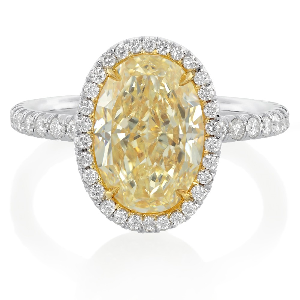 Yellow Diamond Ring in Platinum & 18K Gold (1)