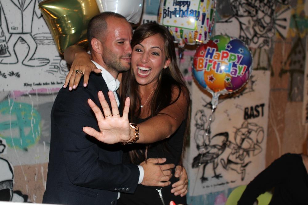 birthday cake surprise proposal
