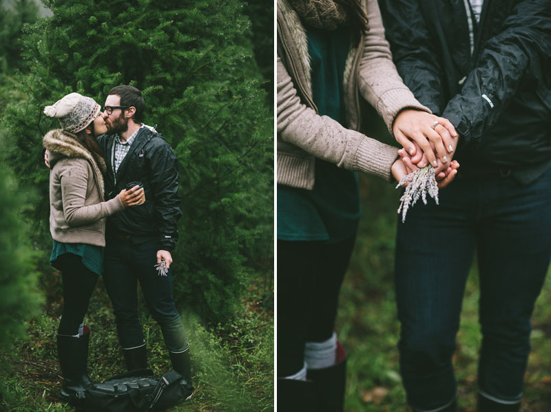 Image 13 of Adorable Marriage Proposal at a Christmas Tree Farm