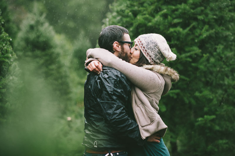 Image 14 of Adorable Marriage Proposal at a Christmas Tree Farm