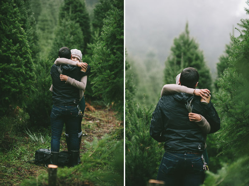 Image 9 of Adorable Marriage Proposal at a Christmas Tree Farm