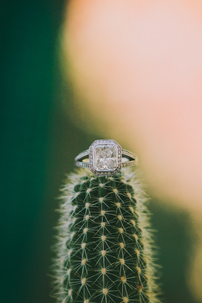 Engagement Ring Photo with Flowers