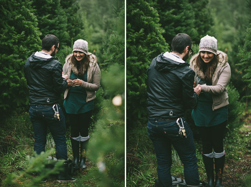 Image 11 of Adorable Marriage Proposal at a Christmas Tree Farm