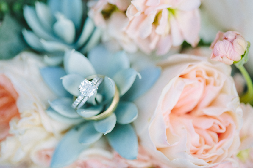 Succulent Flowers And Engagement Ring Photo