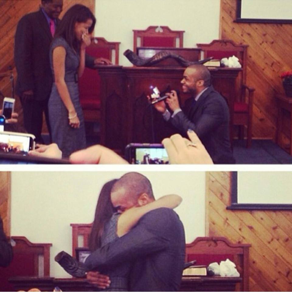Image 3 of Yohanna and Dominick's Marriage Proposal at Church