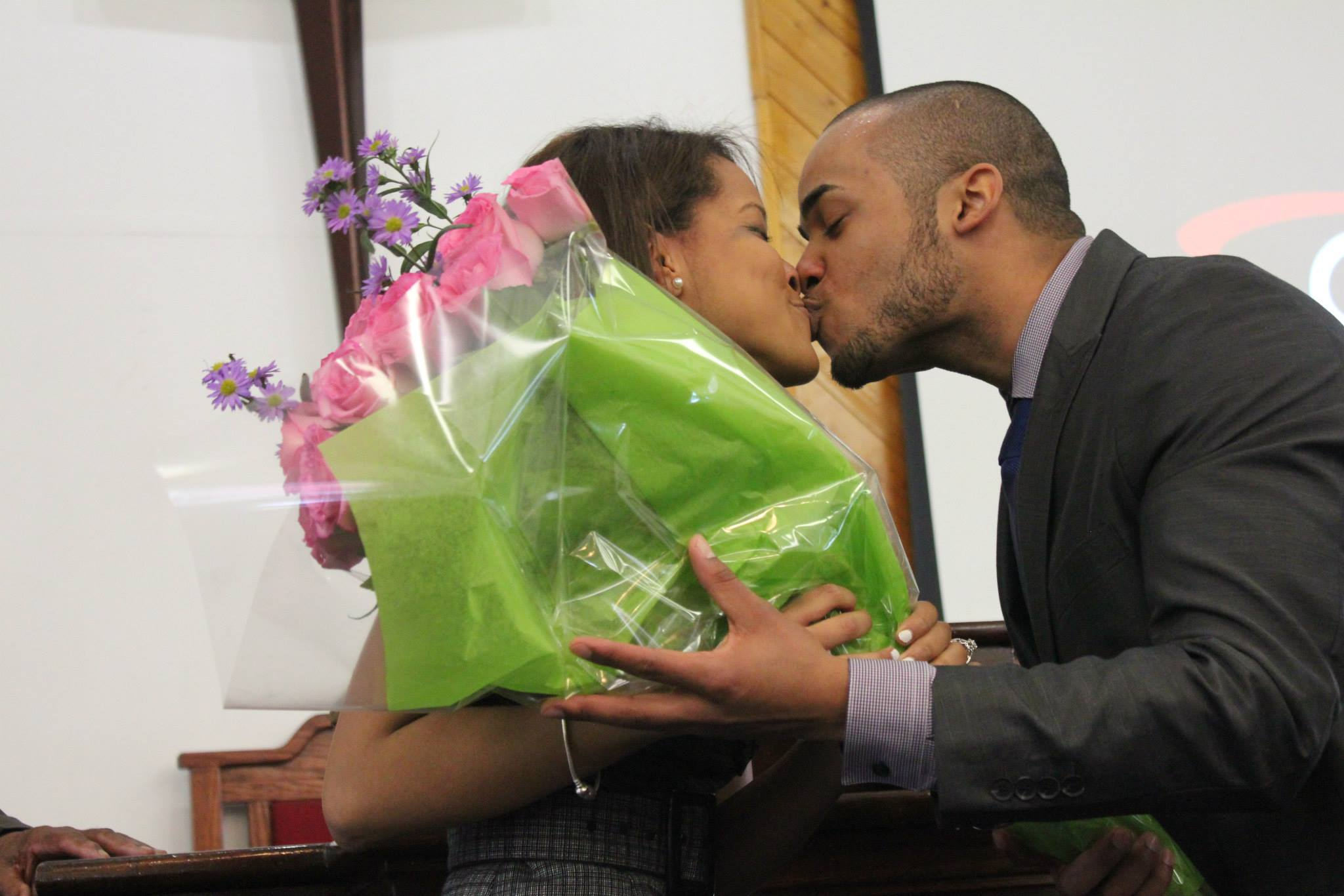Image 4 of Yohanna and Dominick's Marriage Proposal at Church