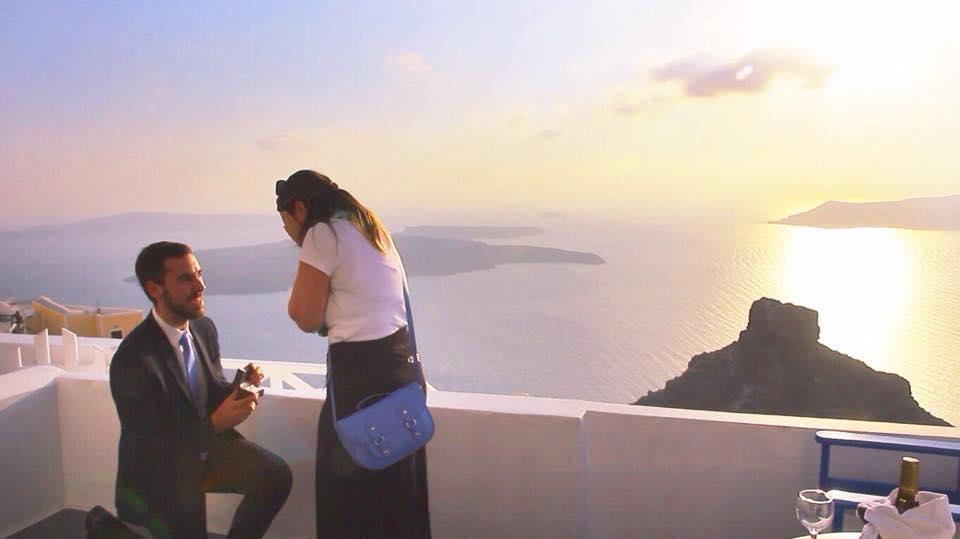 Proposal in Santorini