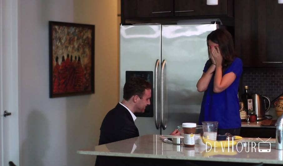 Image 2 of Erica and Daniel: The Best Proposal for a Foodie