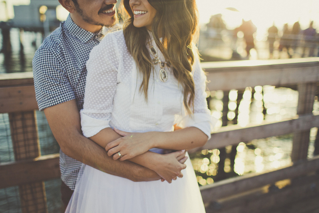 adorable engagement shoot at sunset