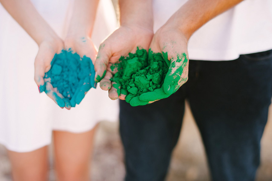 Image 1 of Paint Fight Engagement Photos (do we need to say anything more?)