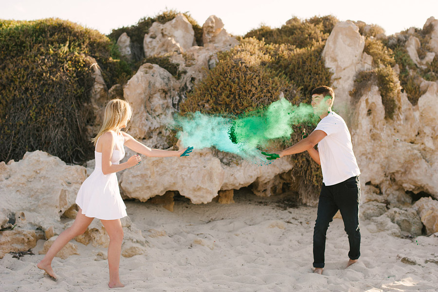Image 3 of Paint Fight Engagement Photos (do we need to say anything more?)