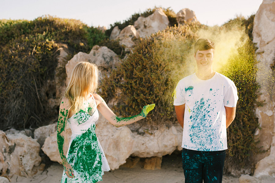 Image 4 of Paint Fight Engagement Photos (do we need to say anything more?)