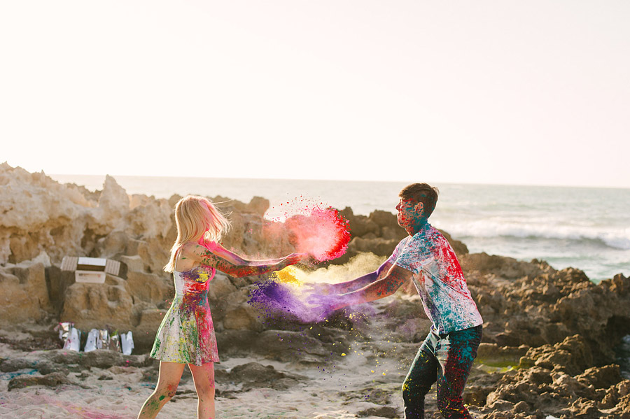 Image 6 of Paint Fight Engagement Photos (do we need to say anything more?)