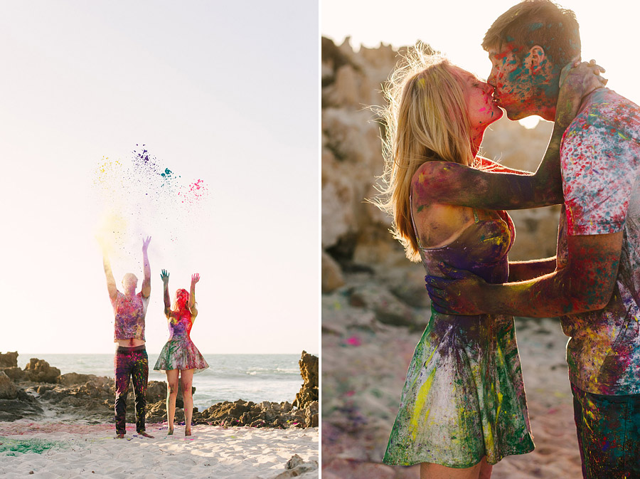 Image 7 of Paint Fight Engagement Photos (do we need to say anything more?)