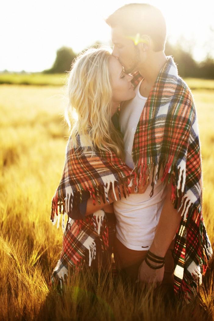forehead kiss _ blanket