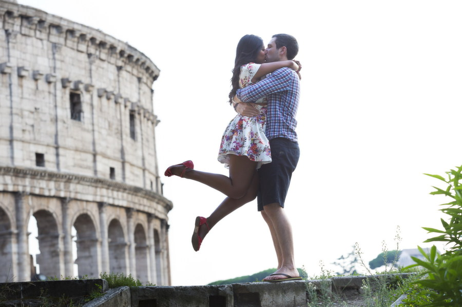 Marriage Proposal in Rome