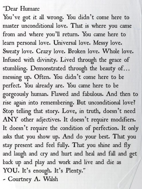 Image 1 of The best quote we've ever read on love and life.
