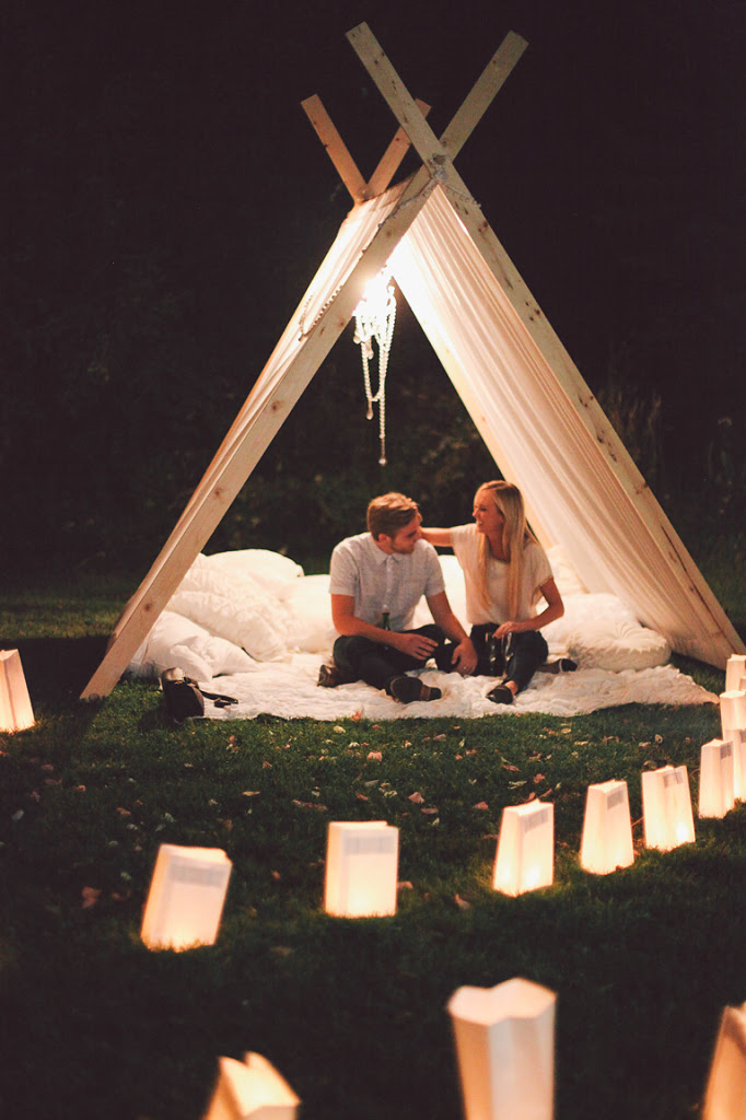 Beautiful Front Lawn Teepee Proposal (8)
