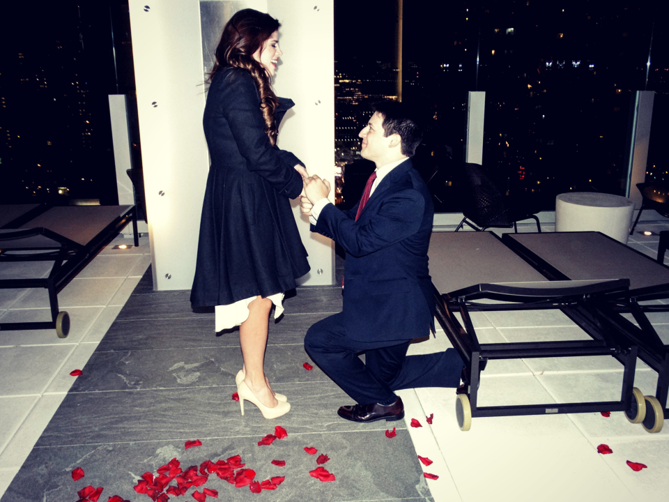 Rooftop Marriage Proposal in New York City edit