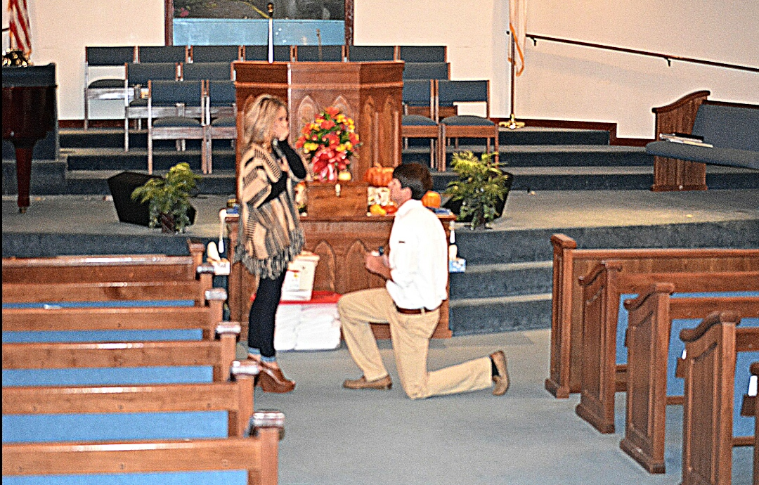 Marriage Proposal at Church 1