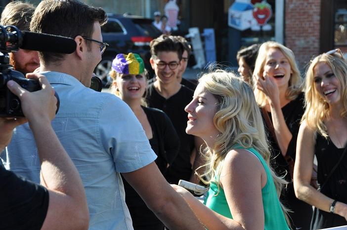 Image 5 of Daniel and Julia's Masked Flash Mob Proposal