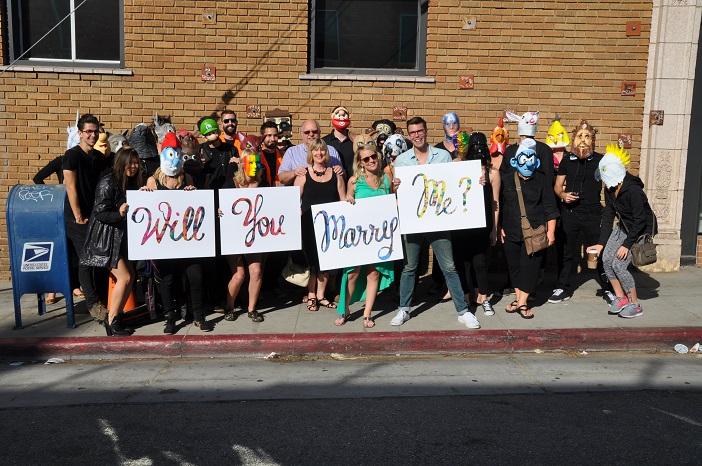 Image 7 of Daniel and Julia's Masked Flash Mob Proposal