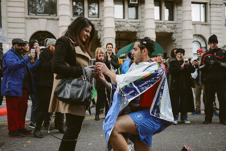 Image 4 of Sabrina and Mos' Proposal at the NYC Marathon