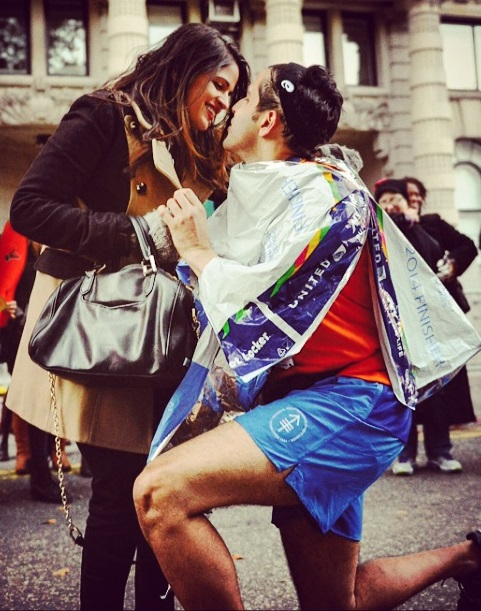 Proposal at the NYC Marathon_engagement