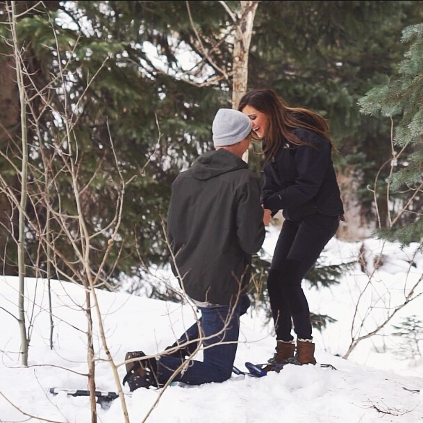 Image 2 of Paris and Pierce's Winter Proposal in Vail