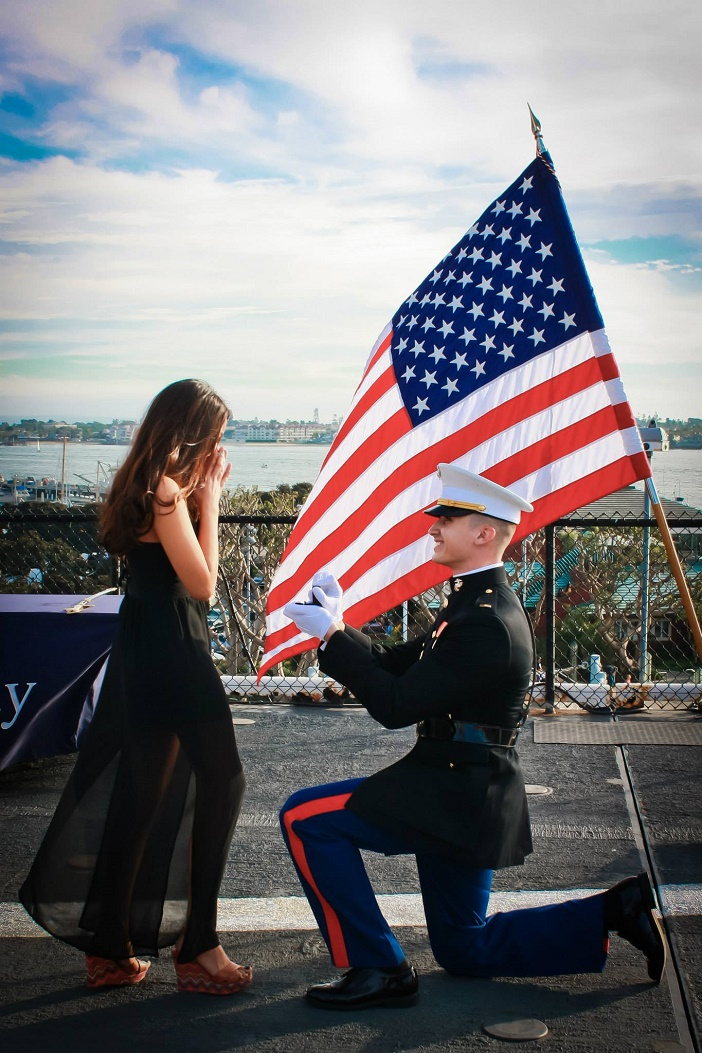 Image 1 of Aubry and Anthony's Commissioning Ceremony Proposal