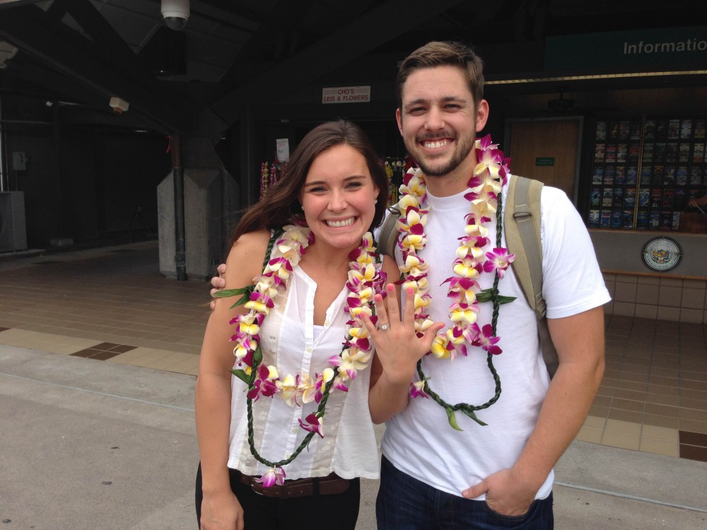 Image 4 of Macy and Taylor's Airport Surprise Proposal in Hawaii