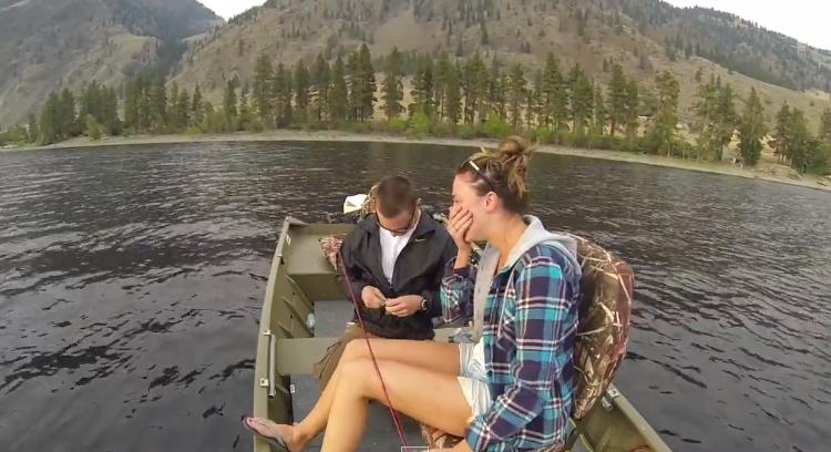 Fishing Marriage Proposal