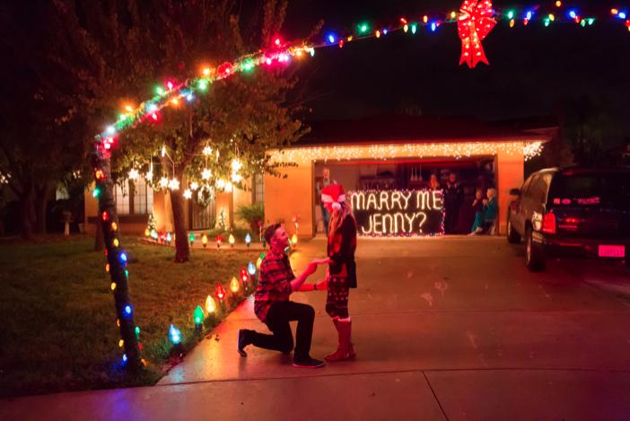 Image 8 of Jenny and Jake's Christmas Lights Proposal