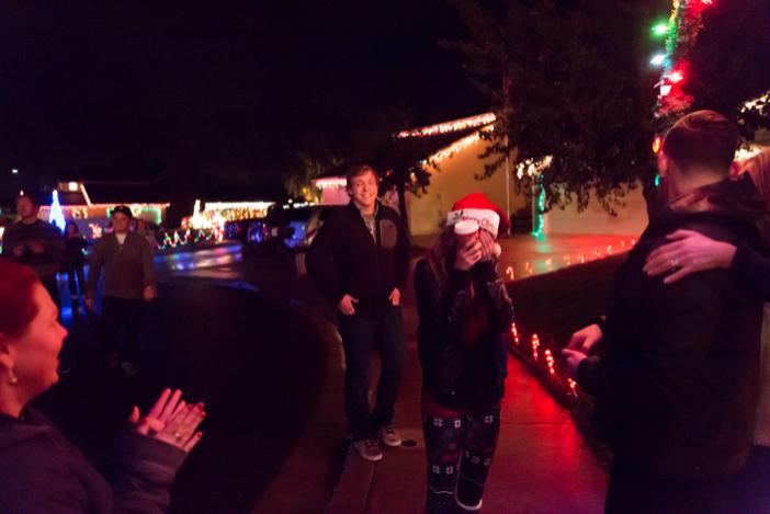 Image 1 of Jenny and Jake's Christmas Lights Proposal