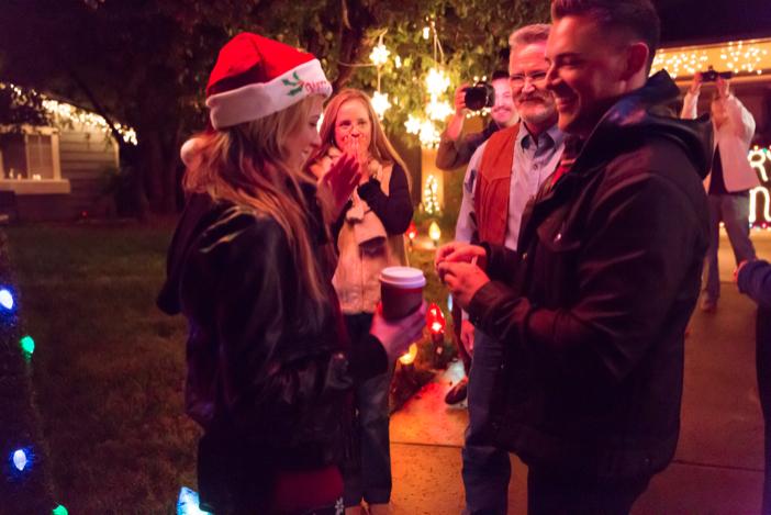 Image 2 of Jenny and Jake's Christmas Lights Proposal