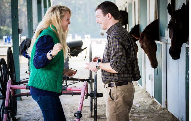 Image 4 of Reilly and Michael's Proposal at her Horse's Stable