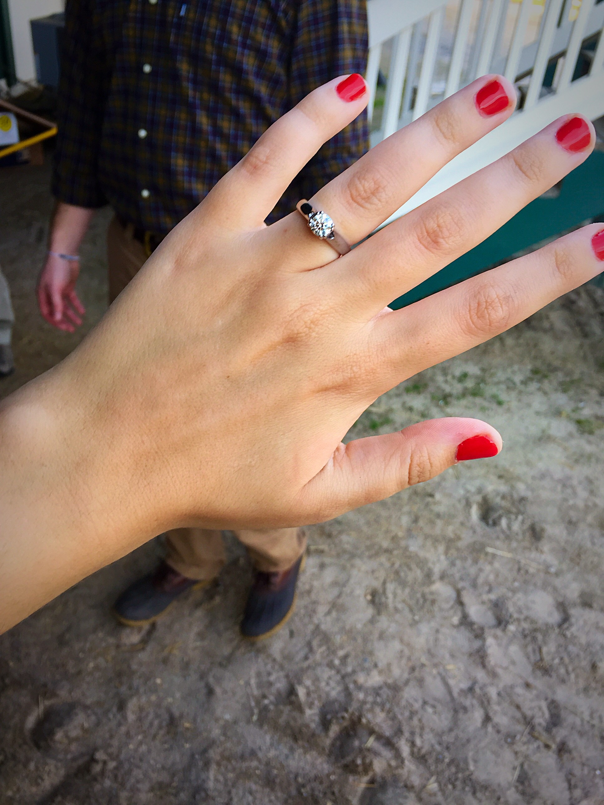 Image 3 of Reilly and Michael's Proposal at her Horse's Stable