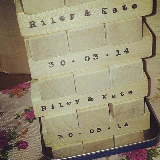 Jenga-Inspired Guest Book