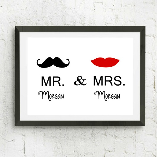 Mr and Mrs Personalized Poster