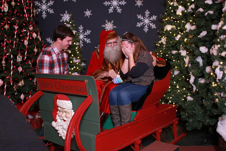 Proposal with Santa Clause