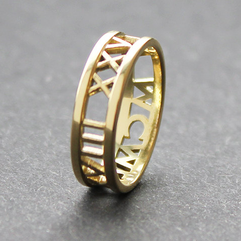 Roman Numerals Date Ring